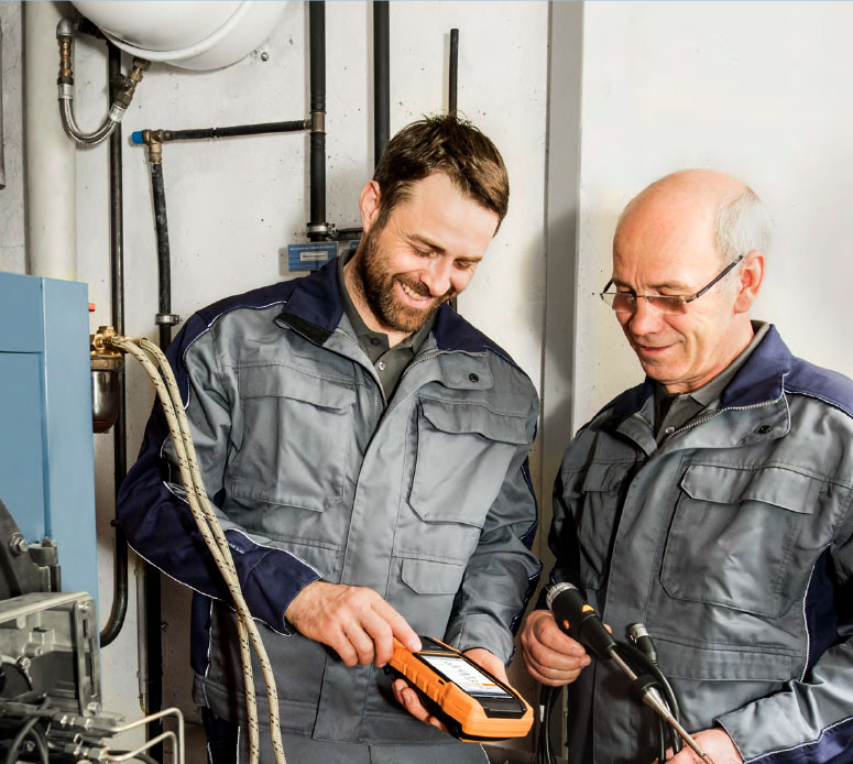 Testo 300 combustion analyzer probe attachment testing