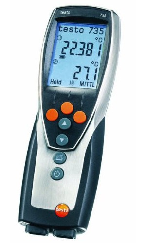 Testo 735-1 3-Channel RTD/Thermocouple Thermometer-