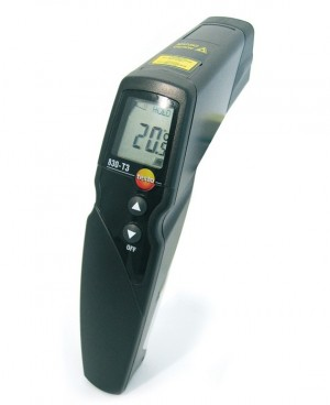 Testo 830-T3 Infrared Thermometer, 25:1 Optics, Type K Input-