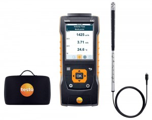 "Testo 440 Air Velocity & IAQ Meter with 0.63"" Vane-"