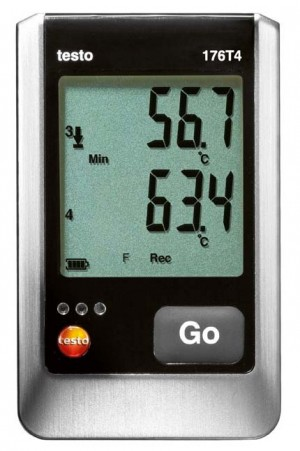 Testo 176 T4 4-Channel Temperature Data Logger with 4 external TC-