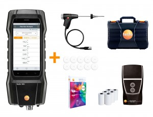Testo 300 LL Commercial Combustion Analyzer Kit with 'NO' sensor and printer-