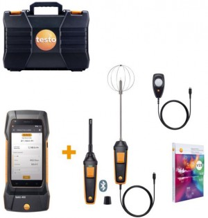Testo 400 Combo Kit for comfort professionals in high performance buildings-