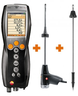 testo 330 2g ll kit 2 combustion analyzer with nox and hi range co. Black Bedroom Furniture Sets. Home Design Ideas